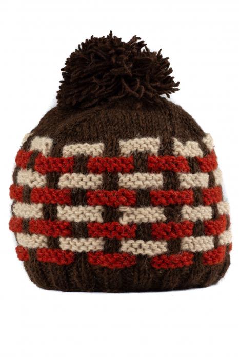 Caciula din lana - Brown [0]