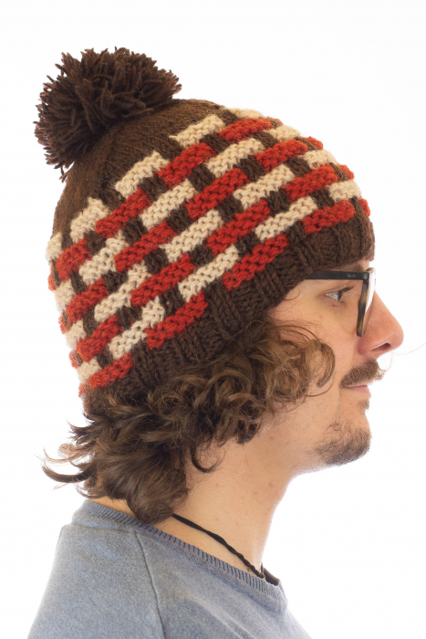 Caciula din lana - Brown 2