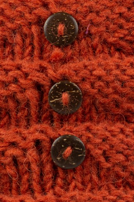Caciula din lana - Caramiziu 3