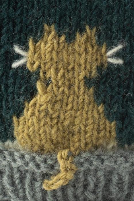 Caciula din lana Cats - Blue [2]