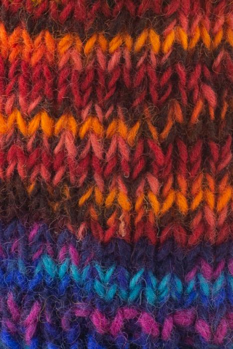 Caciula din lana cu ciucure - Blue Rainbow 2