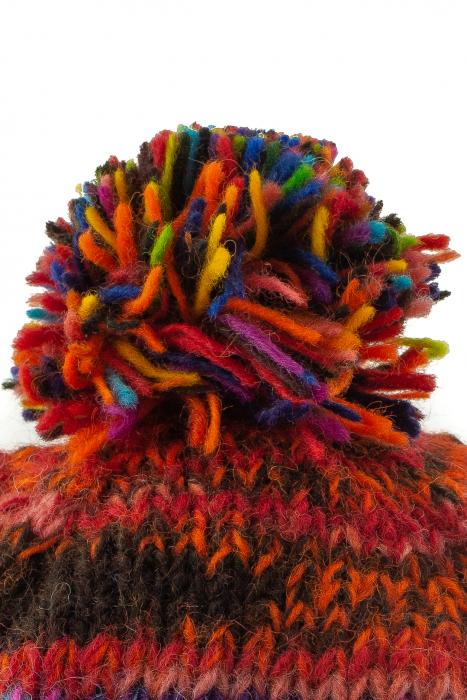 Caciula din lana cu ciucure - Rainbow_2 3