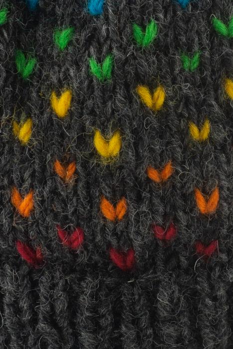 Caciula din lana cu ciucure - Rainbow Dots 2