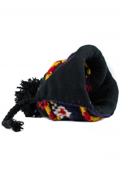 Caciula din lana cu urechi - Black 6