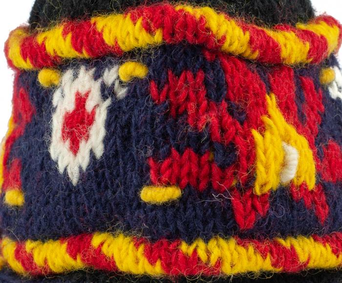 Caciula din lana cu urechi - Black 4