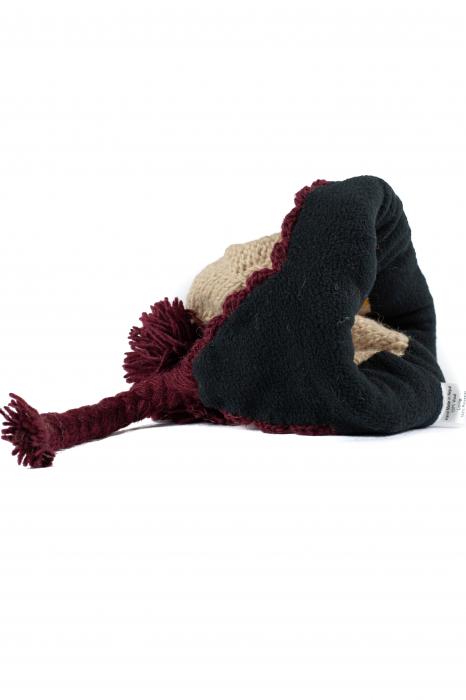 Caciula din lana copii Flowers - Bej 3