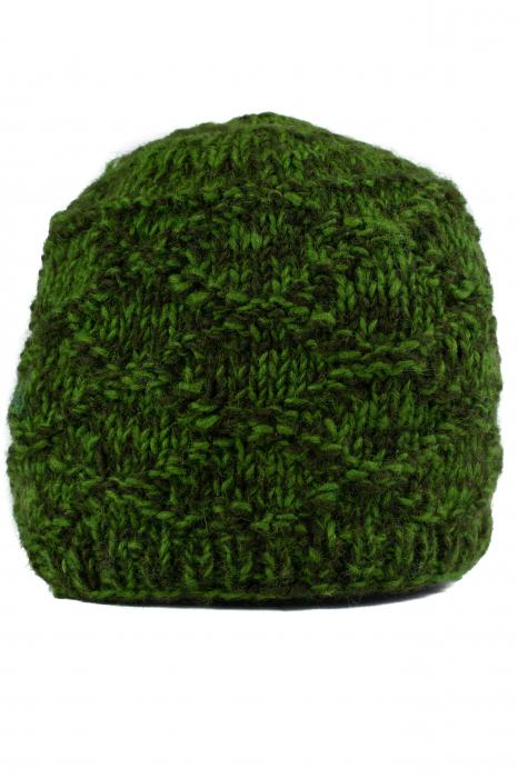 Caciula din lana - Green 1