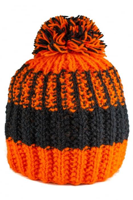 Caciula din lana - Orange and Black 1