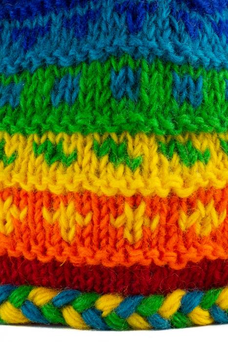Caciula din lana copii - Rainbow 2