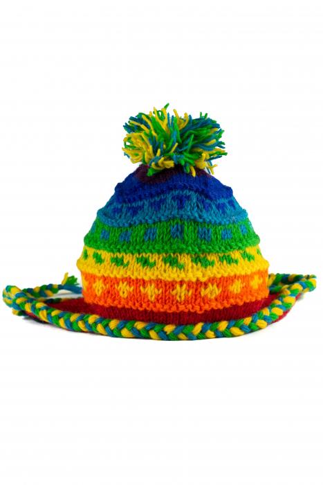 Caciula din lana copii - Rainbow 1