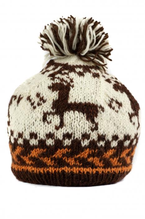 Caciula din lana copii - Reindeer 0