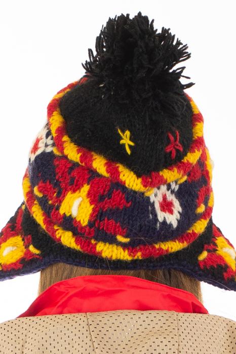Caciula din lana cu urechi - Black 8