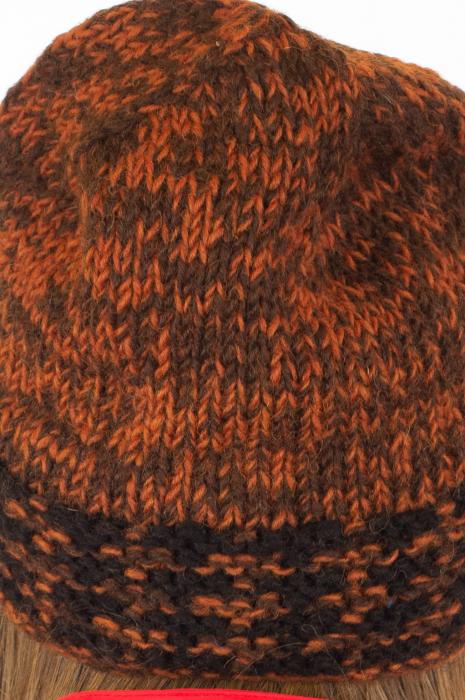 Caciula din lana - Black and Brown 5
