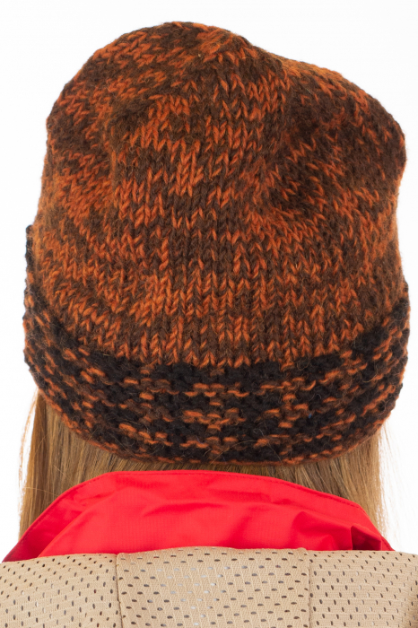 Caciula din lana - Black and Brown 4