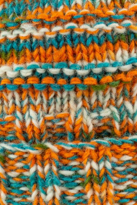 Caciula din lana Stripes - Orange and Blue 3