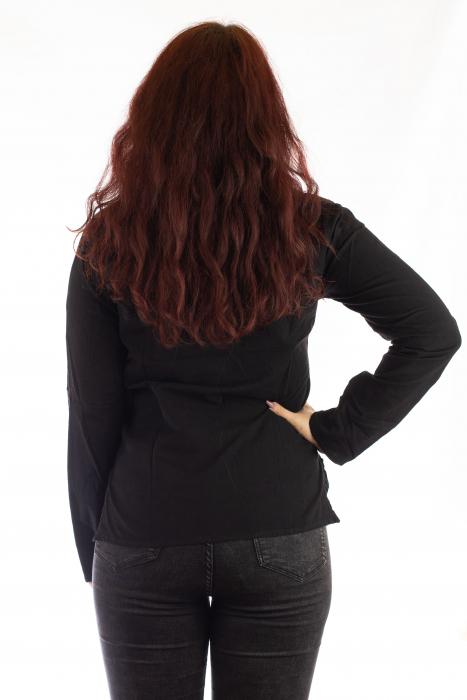 Hanorac unisex subtire din bumbac cu maneca lunga - Negru 2