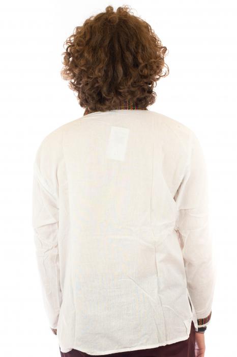 Camasa cu maneca lunga - Etno - Alb [5]
