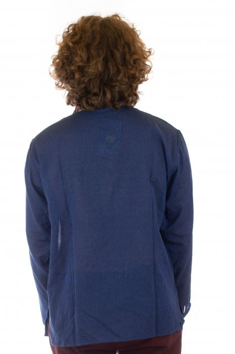 Camasa cu maneca lunga - Etno - Albastru Inchis [4]