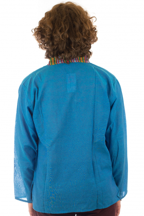 Camasa cu maneca lunga - Etno - Albastru [3]