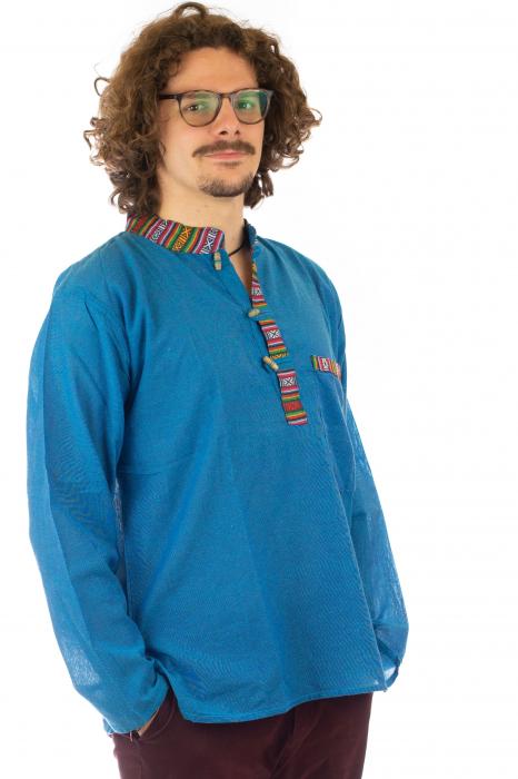 Camasa cu maneca lunga - Etno - Albastru [2]