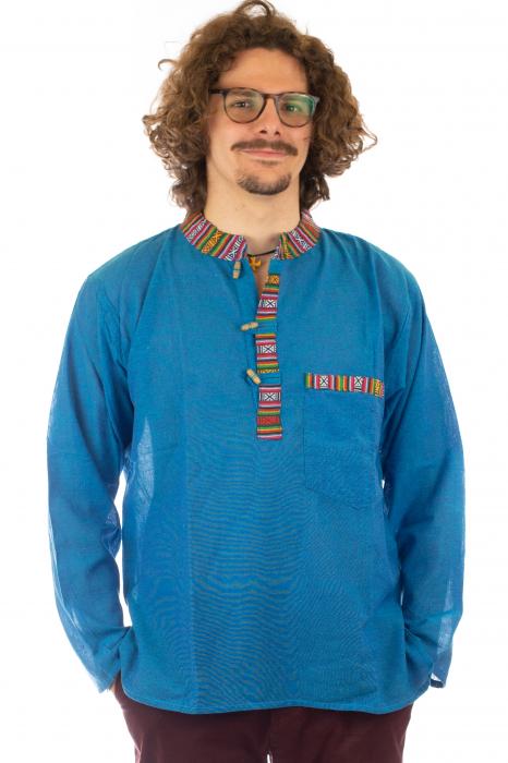 Camasa cu maneca lunga - Etno - Albastru [0]