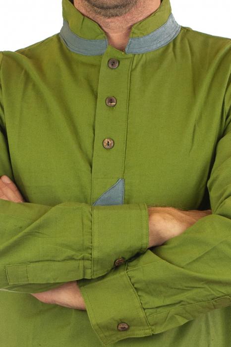 Camasa cu maneca lunga - Grey Collar - Verde 5