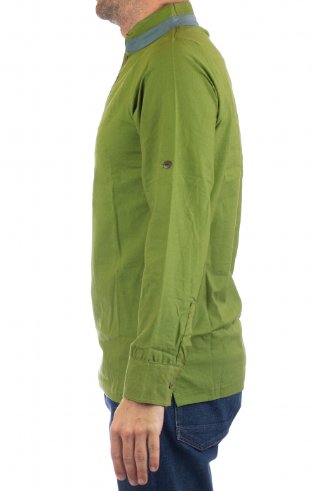 Camasa cu maneca lunga - Grey Collar - Verde [6]