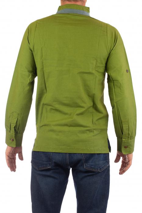 Camasa cu maneca lunga - Grey Collar - Verde 7