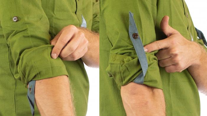 Camasa cu maneca lunga - Grey Collar - Verde 3