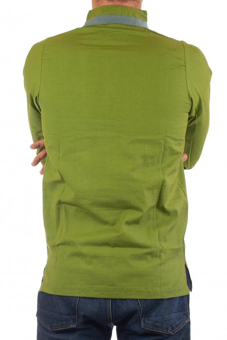 Camasa cu maneca lunga - Grey Collar - Verde [8]