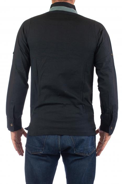 Camasa cu maneca lunga - Grey Collar - Negru [4]