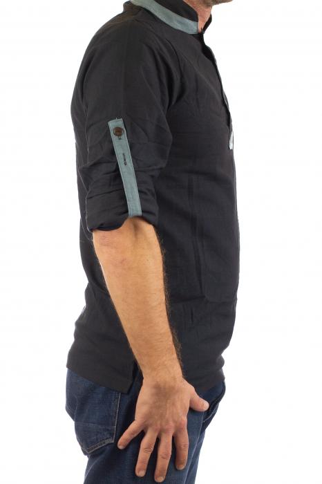 Camasa cu maneca lunga - Grey Collar - Negru [7]