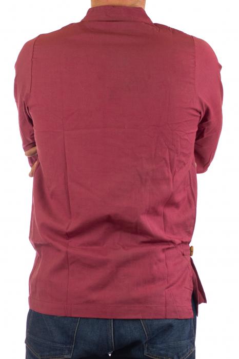 Camasa cu maneca lunga - Side Cut - Visiniu 4