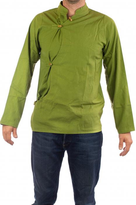 Camasa cu maneca lunga - Side Cut - Verde 1