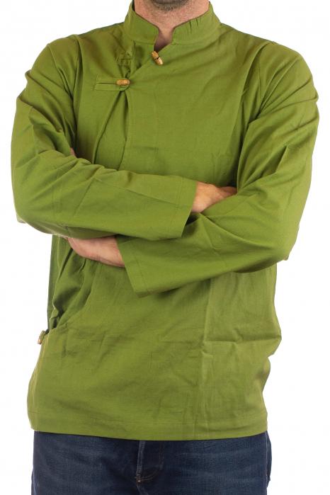 Camasa cu maneca lunga - Side Cut - Verde 2