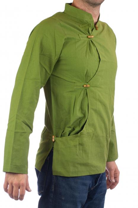 Camasa cu maneca lunga - Side Cut - Verde 0