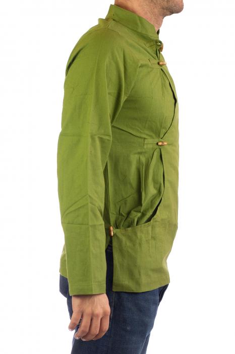 Camasa cu maneca lunga - Side Cut - Verde 3