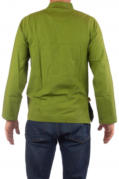 Camasa cu maneca lunga - Side Cut - Verde 5