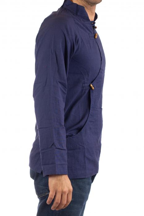 Camasa cu maneca lunga - Side Cut - Albastru Inchis [3]