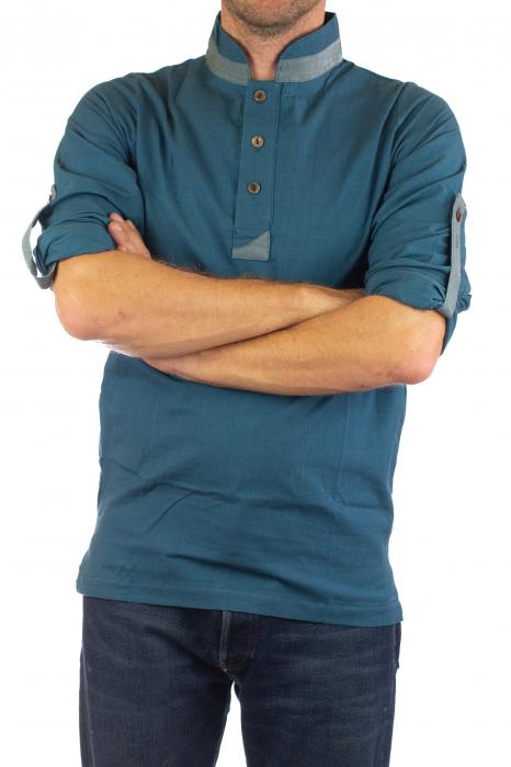 Camasa cu maneca lunga - Side Cut - Visiniu 5