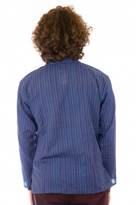 Camasa cu maneca lunga, in dungi - Mov 3