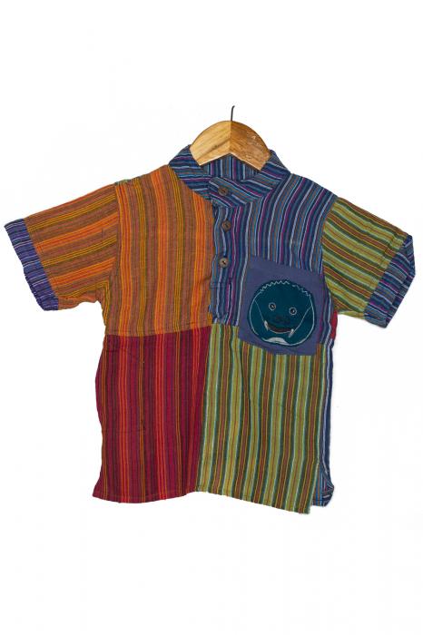Camasa cu maneca scurta din bumbac unicat pentru copii- S - Porcusor M15 0