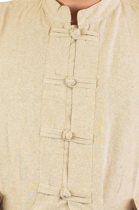 Camasa cu nod chinezesc - Chinese knot shirt - Crem [2]