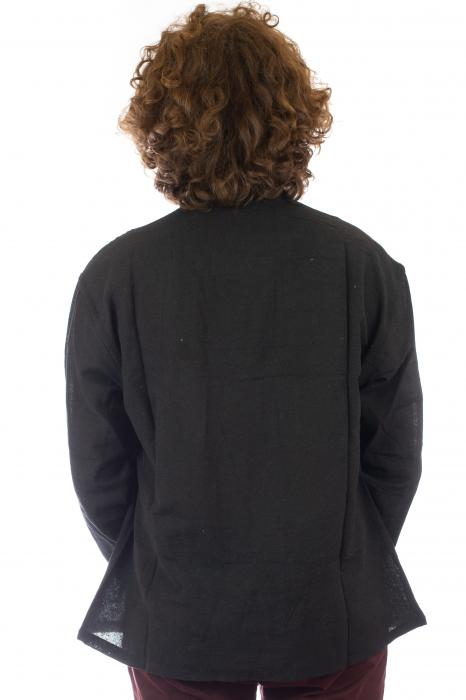Camasa cu nod chinezesc - Chinese knot shirt - Negru - Model 2 [4]