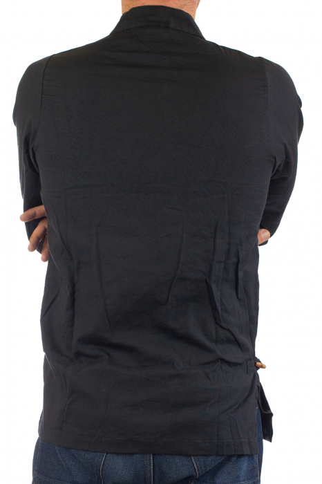 Camasa cu maneca lunga - Side Cut - Neagra [7]