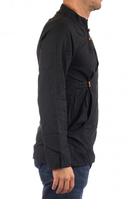 Camasa cu maneca lunga - Side Cut - Neagra [5]