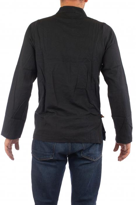 Camasa cu maneca lunga - Side Cut - Neagra [6]