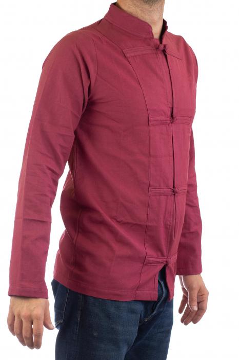 Camasa cu nod chinezesc - Chinese knot shirt - Visiniu 0