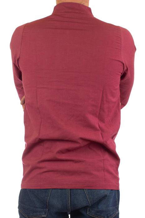 Camasa cu nod chinezesc - Chinese knot shirt - Visiniu 4