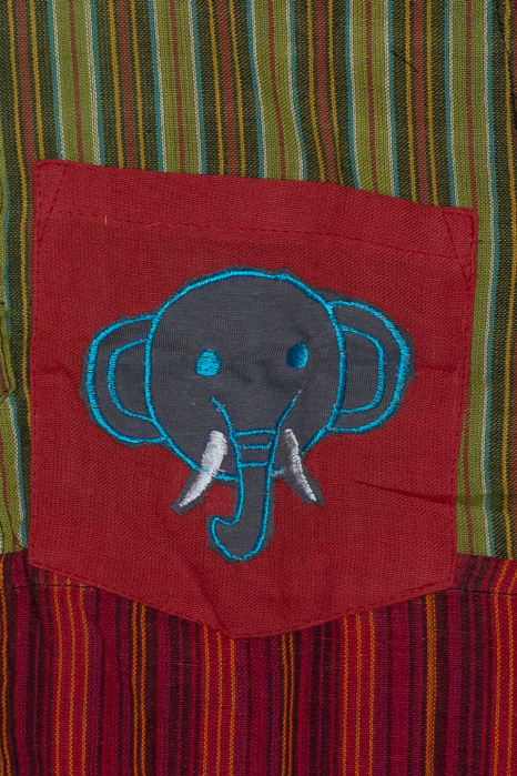 Camasa din bumbac de copii, Elefant marimea L - maneca scurta unicata M2 1